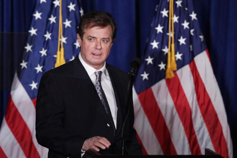 Paul Manafort, chief strategist of the Trump campaign, prepares for an event at the Mayflower Hotel. (Getty)