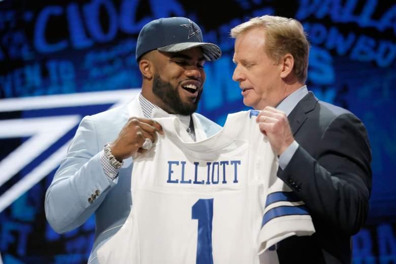 Ezekiel Elliott and Roger Goodell, NFL Draft 2016, Cowboys NFL odds 2016