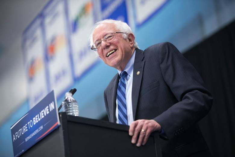 FORT WAYNE, IN - MAY 02: Democratic presidential candidate Senator Bernie Sanders (D-VT) speaks at a campaign event on the campus of Indiana University - Purdue University Fort Wayne May 2, 2016 in Fort Wayne, Indiana. Voters in Indiana go to the polls tomorrow for the state's primary. (Photo by Scott Olson/Getty Images)