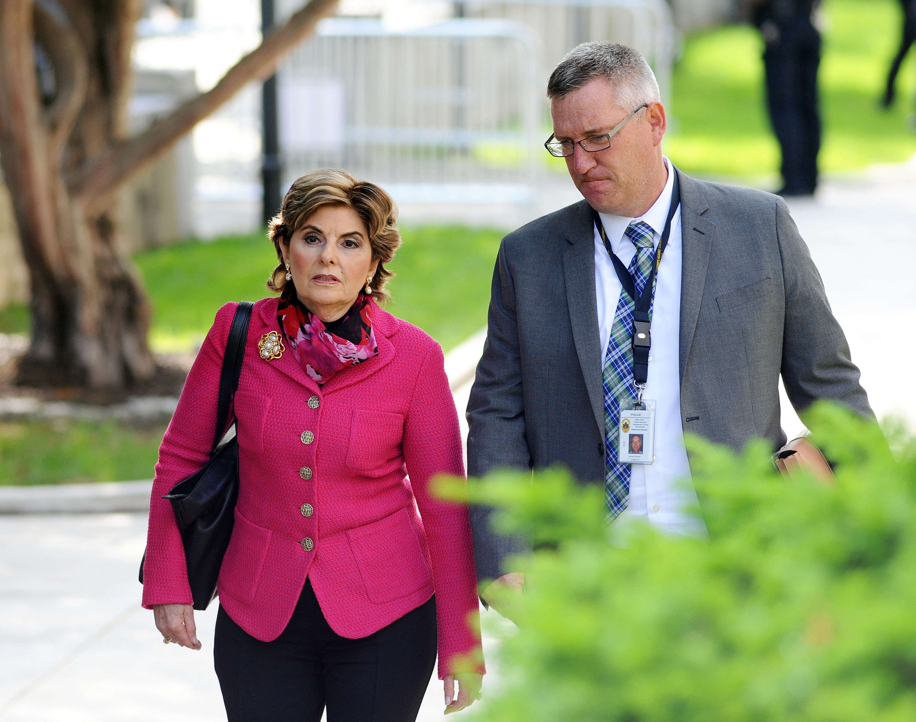 Gloria Allred, an attorney for some of the victims in the Bill Cosby sexual abuse case, arrives for a preliminary hearing on sexual assault charges at Montgomery County Courthouse on May 24, 2016 in Norristown, Pennsylvania. (William Thomas Cain/Getty)