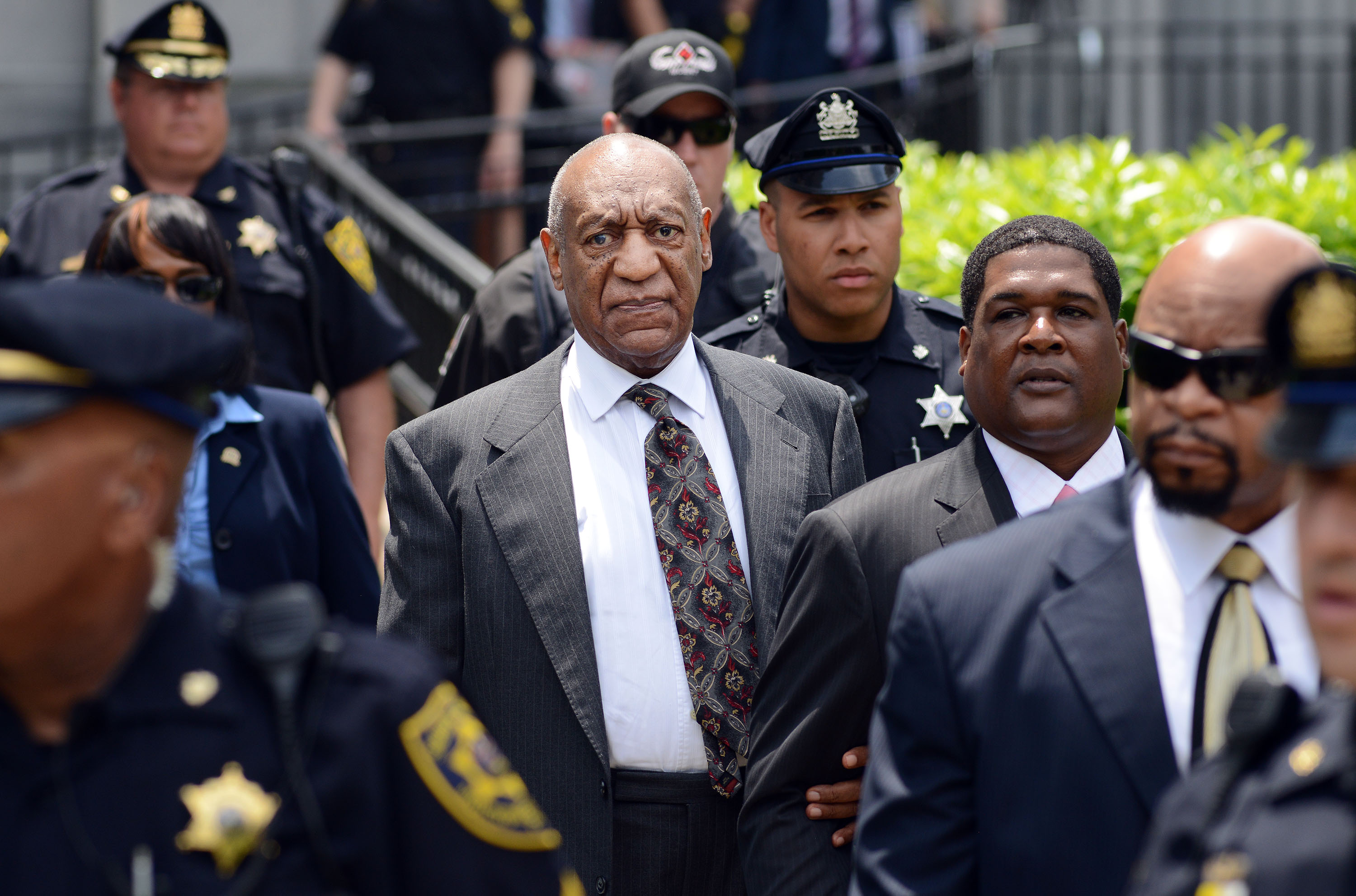 Actor and comedian Bill Cosby leaves a preliminary hearing on sexual assault charges on May 24, 2016 in at Montgomery County Courthouse in Norristown. (William Thomas Cain/Getty)