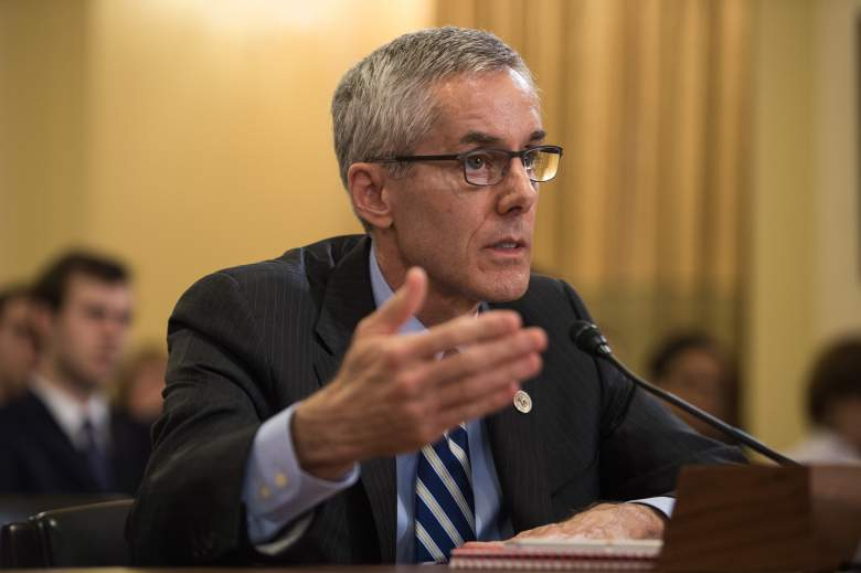 """Peter Neffenger, administrator of the Transportation Security Administration (TSA), testifies before the House Homeland Security Committee on """"Long Lines, Short Patience: The TSA Airport Screening Experience"""" on Capitol Hill in Washington, DC, on May 25, 2016. / AFP / Nicholas Kamm (Photo credit should read NICHOLAS KAMM/AFP/Getty Images)"""