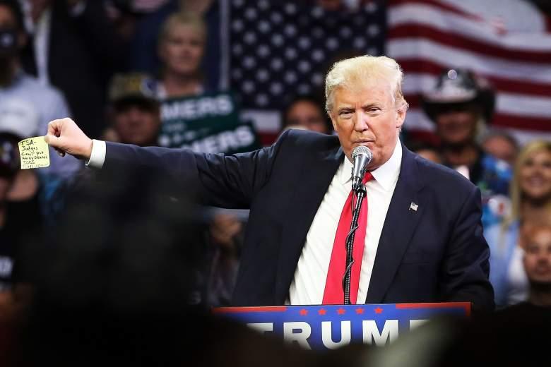Donald Trump Fresno, Donald Trump California, Donald Trump notes