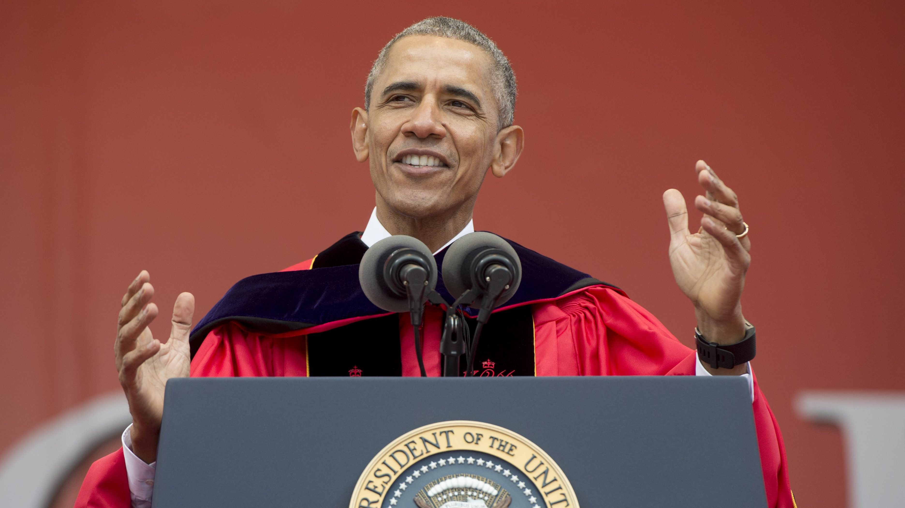 president obama rutgers speech