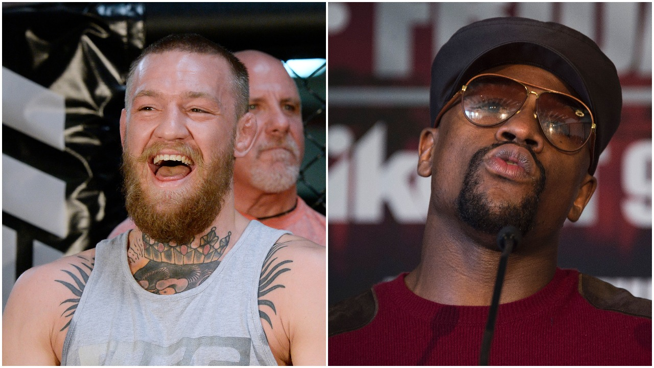 Conor McGregor, left, and Floyd Mayweather Jr. have both played up rumors of a megafight between the two superstars. (Getty)