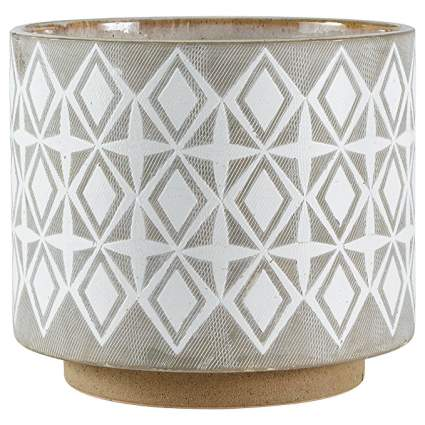 Rivet Geometric Ceramic Planter