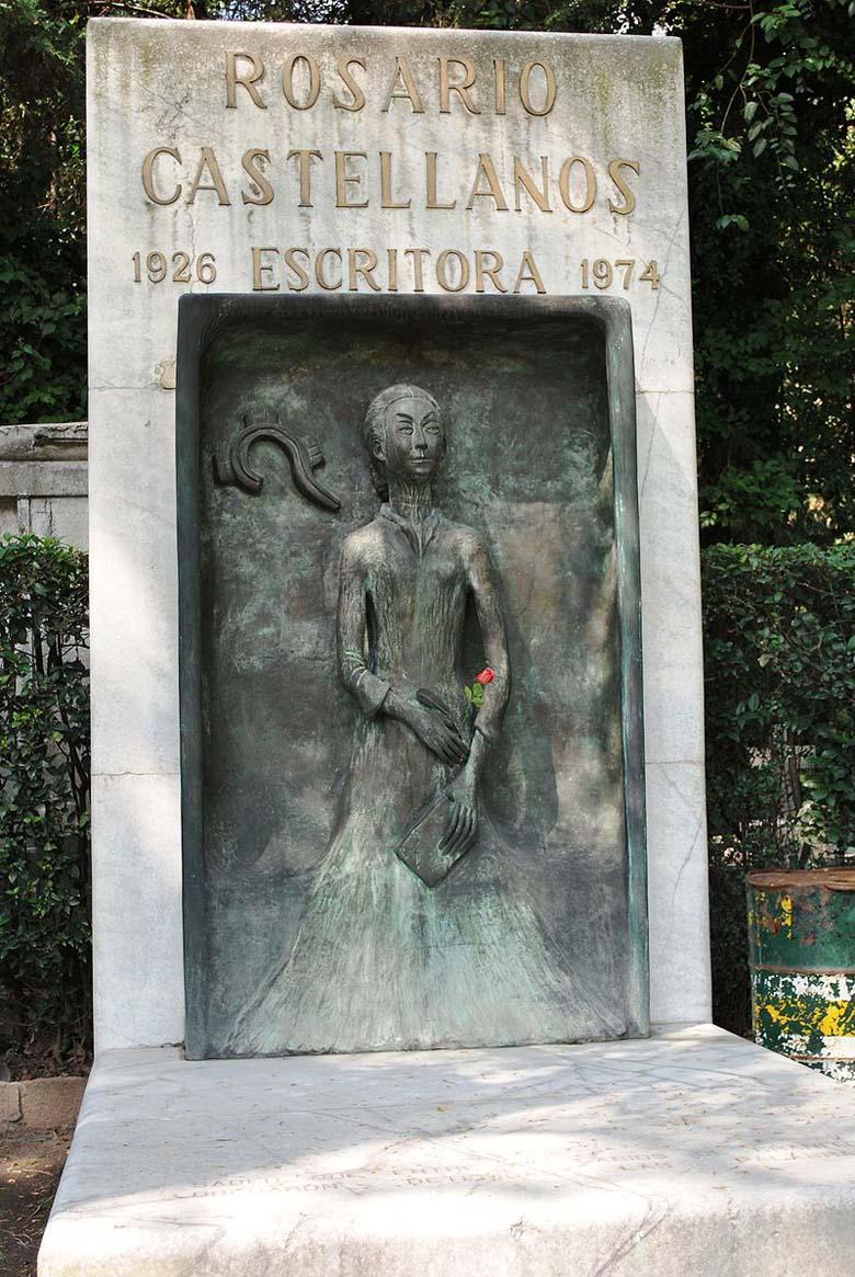 Castellanos' tombstone in Mexico City