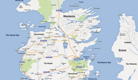 game of thrones google map