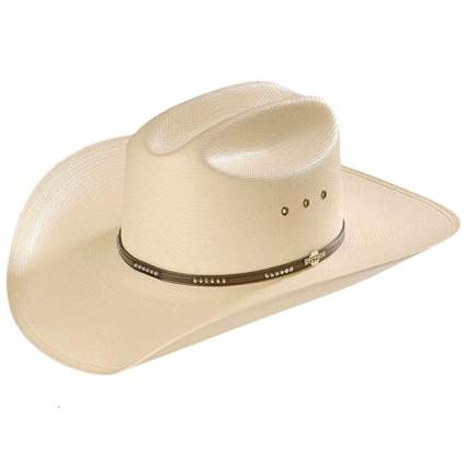 natural straw cowboy hat