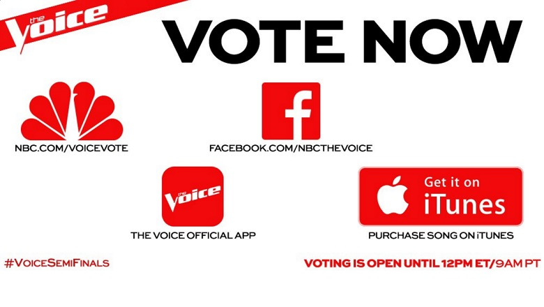 The Voice, The Voice Voting 2016, The Voice Instant Save 2016, How To Use The Voice App, The Voice Voting App