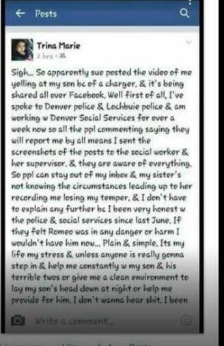 A post made to Facebook by Katrina Flores Kennedy after the video went viral. (Facebook)