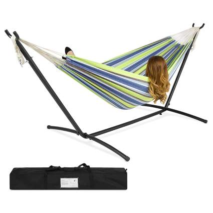 two person hammock with metal stand