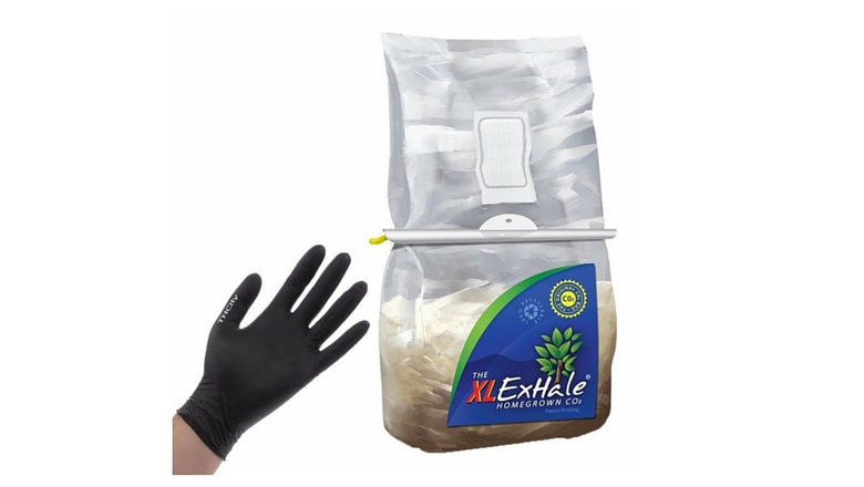 ExHale CO2 bag, carbon dioxide emitter, co2 regulator for growing cannabis, grow weed hydroponics, marijuan