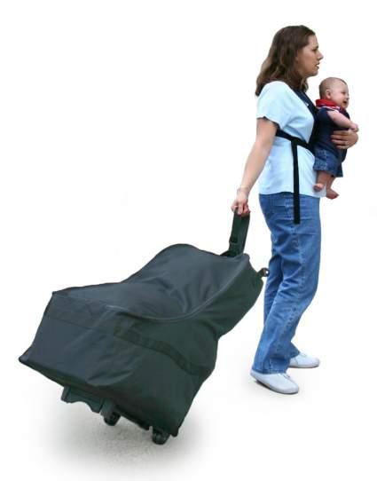travel bag, car seat, wheelie, wheels, baby shower gift