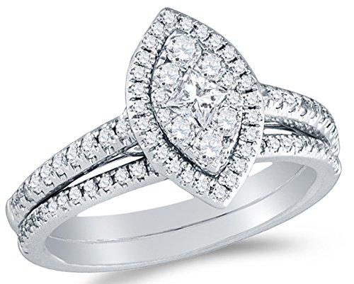 Halo Circle Bridal Engagement Ring