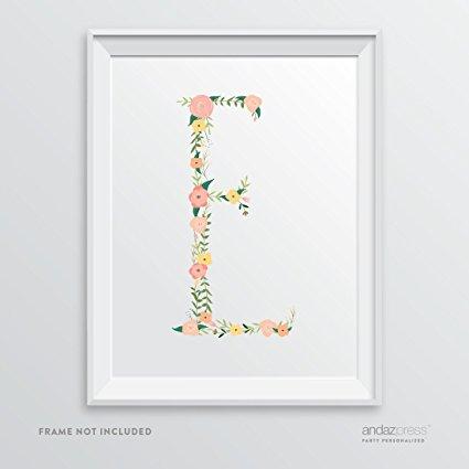 Monogrammed Nursery Art Print, best baby shower gift