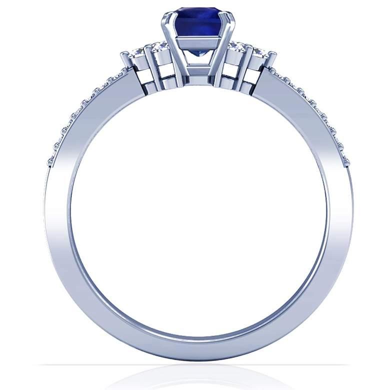 Princess Cut Blue Sapphire Ring