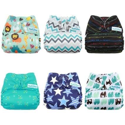 Mama Koala One Size Baby Cloth Pocket Diapers