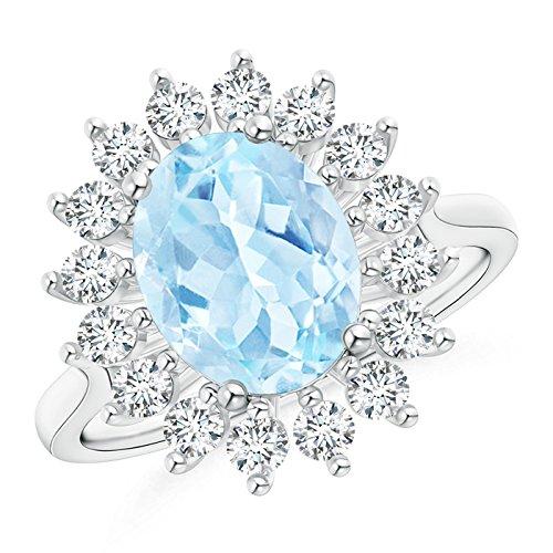 oval aquamarine vintage ring