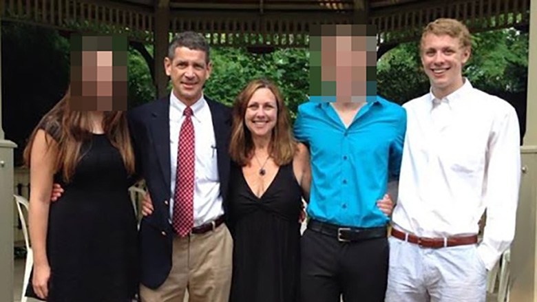 Brock Turner with his parents, sister and brother. (Facebook)