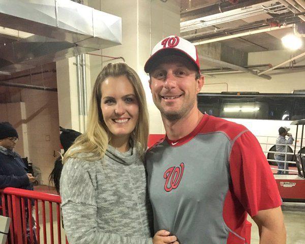 Erica May, Max Scherzer, Washington Nationals