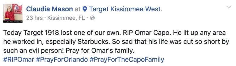 Omar Capo, Omar Capo RIP, Pray for Orlando, Pray for the Capo Family