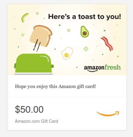 amazon gift card, amazon fresh, best baby shower gift
