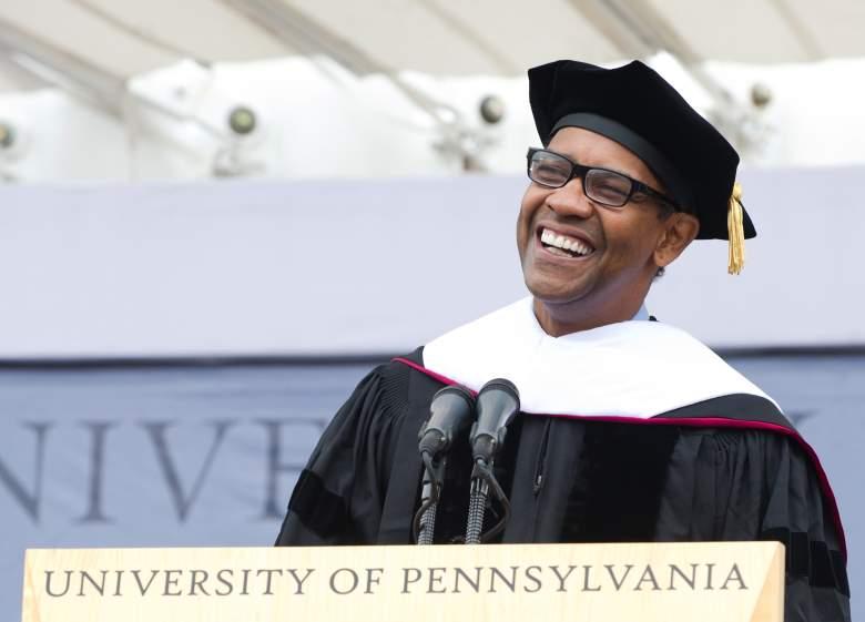 Denzel Washington commencement, University of Pennsylvania, Denzel Washington laugh