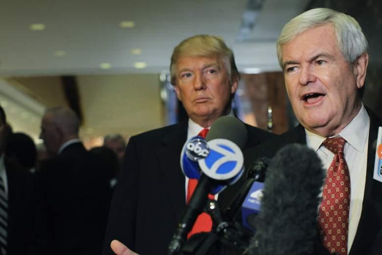 Newt Gingrich and Donald Trump, Donald Trump supporter, Newt Gingrich endorses Donald Trump