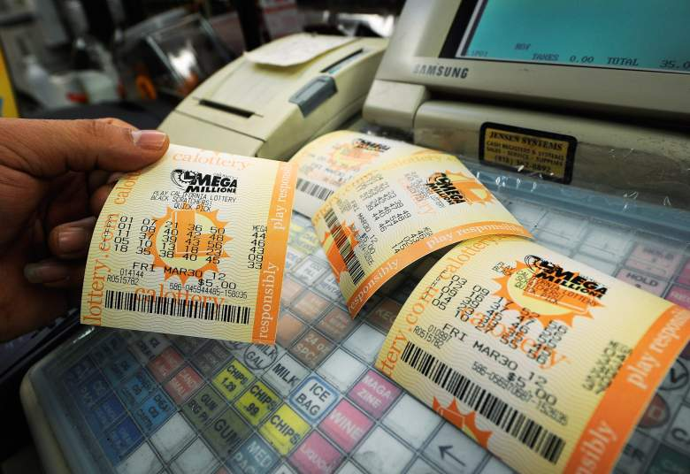 COVINA, CA - MARCH 30:  Mega Millions lottery tickets sit on a registar at Liquorland on March 30, 2012 in Covina, California The Mega Millions jackpot has reached a high of $640 million  before the drawing tonight.   (Photo by Kevork Djansezian/Getty Images)