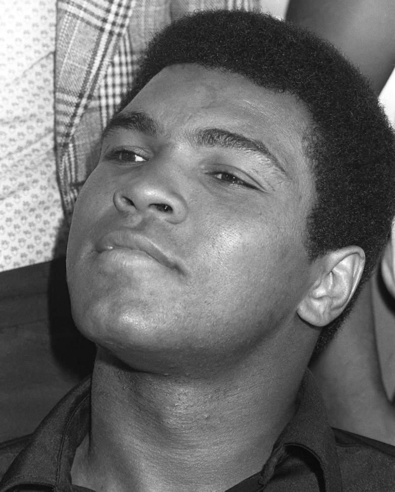 Muhammad Ali, 1974. (Getty)