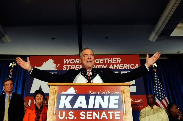 Tim Kaine Senator, Tim Kaine vice presidential candidate, Tim Kaine political experience