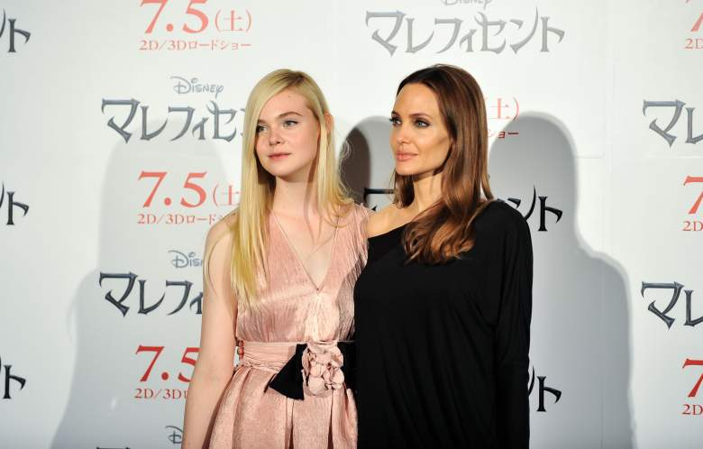 Angelina Jolie and Elle Fanning, Maleficent Angelina Jolie, Angelina Jolie red carpet