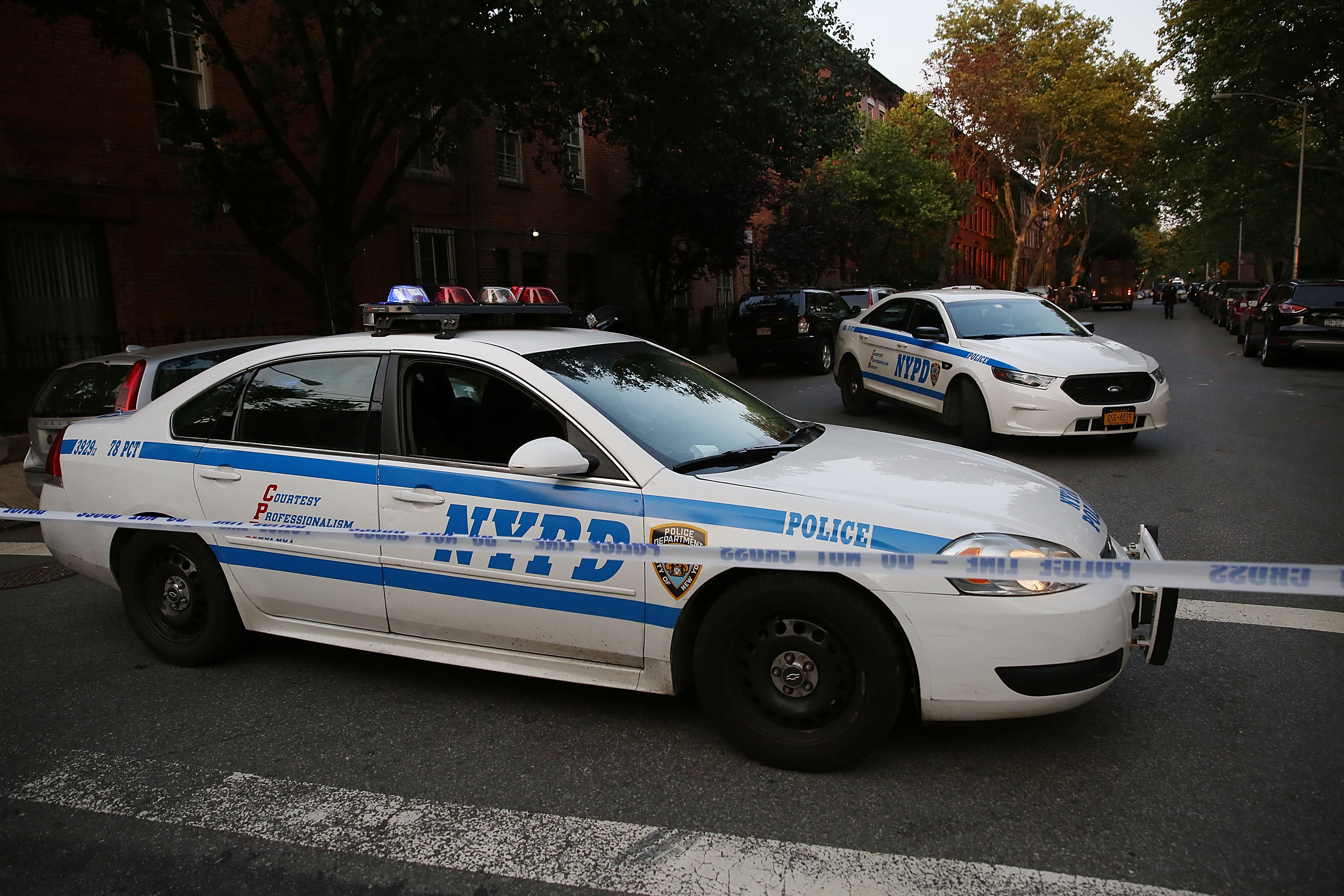 NYPD car, Brooklyn police, Brooklyn shootings 2016