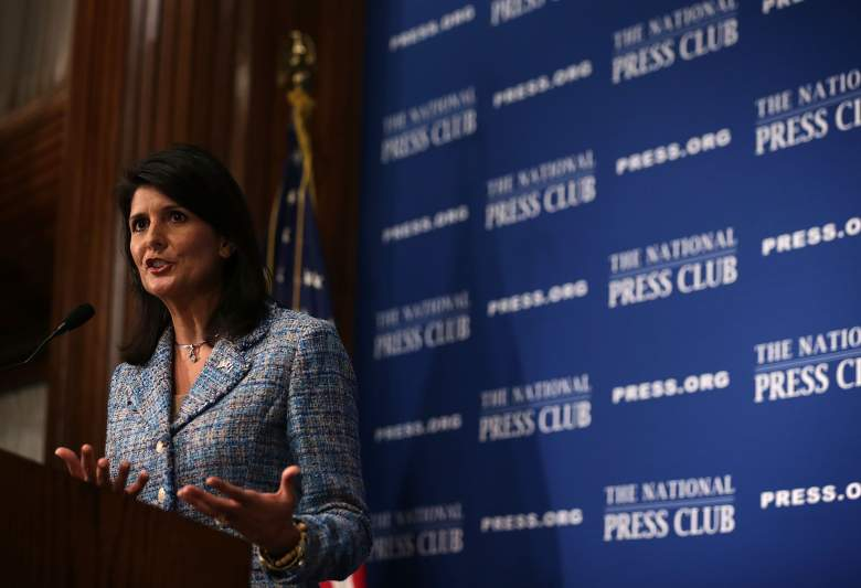 Nikki Haley Newsmaker Luncheon, Nikki Haley National Press Club, Nikki Haley support