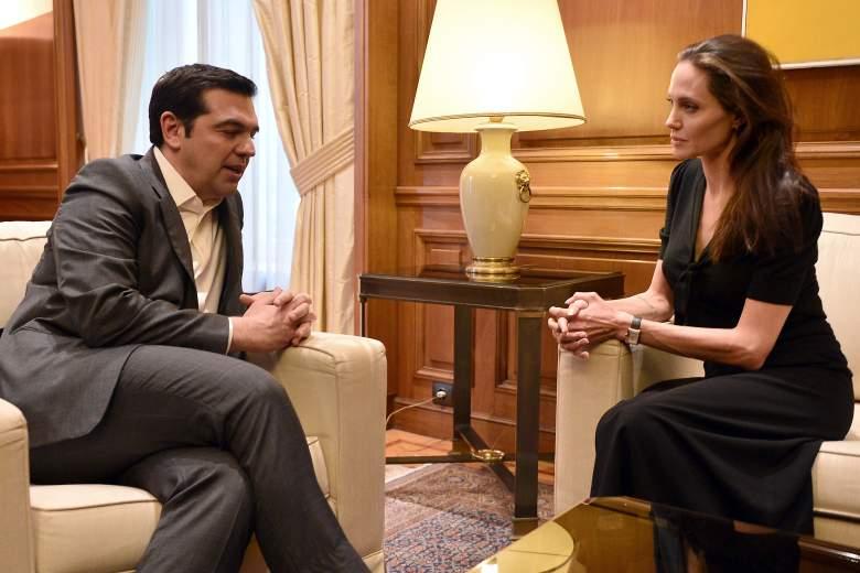 Angelina Jolie and Alexis Tsipras, Angelina Jolie humanitarian, Angelina Jolie UN