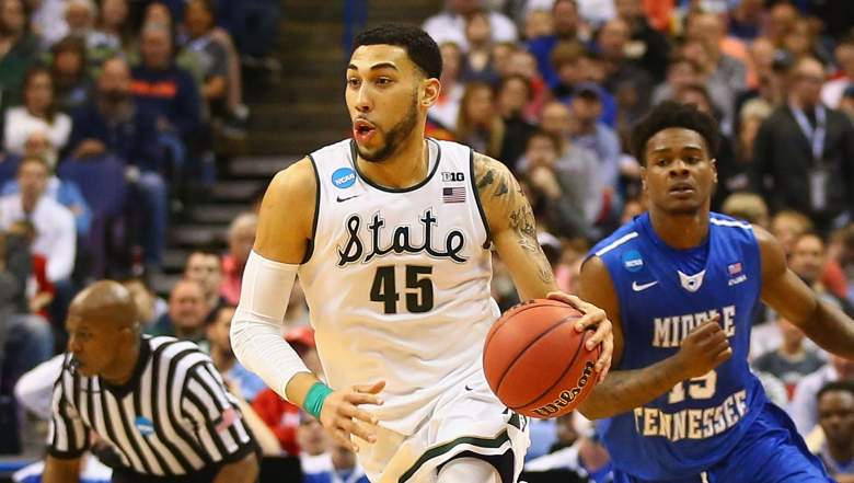 Denzel Valentine out of Michigan State was the Chicago Bulls' first-round pick in the 2016 NBA Draft. (Getty)
