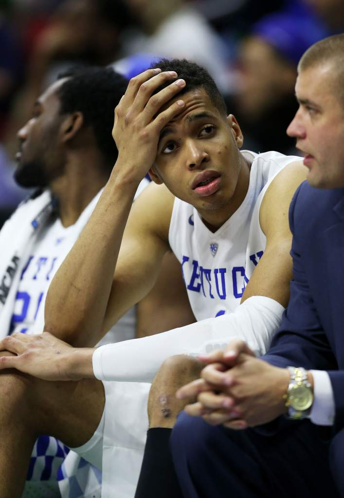 Labissiere didn't make the impact on the court many at Kentucky had hoped for. (Getty)