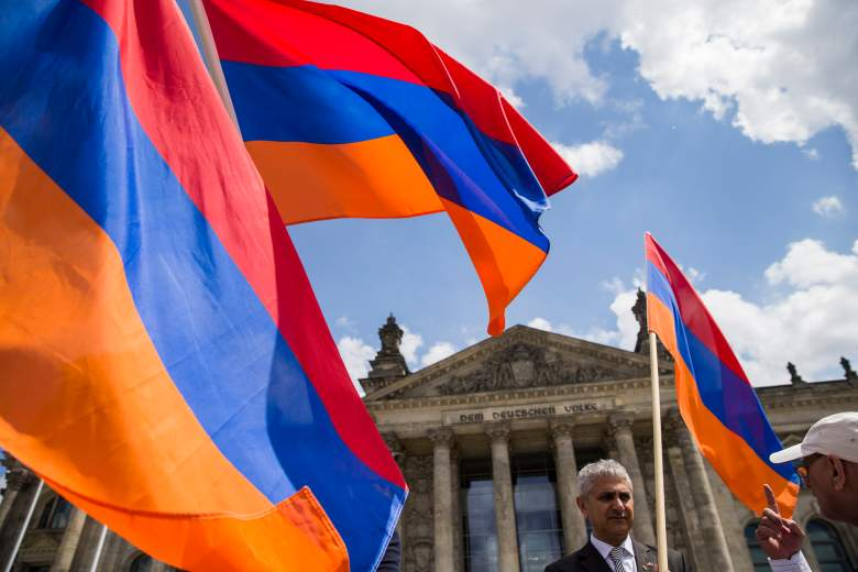 Armenian flag, Bundestag, Germany Armania