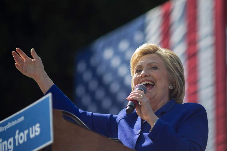 Hillary Clinton speaks at a rally in Los Angeles, California on June 6. (Getty)