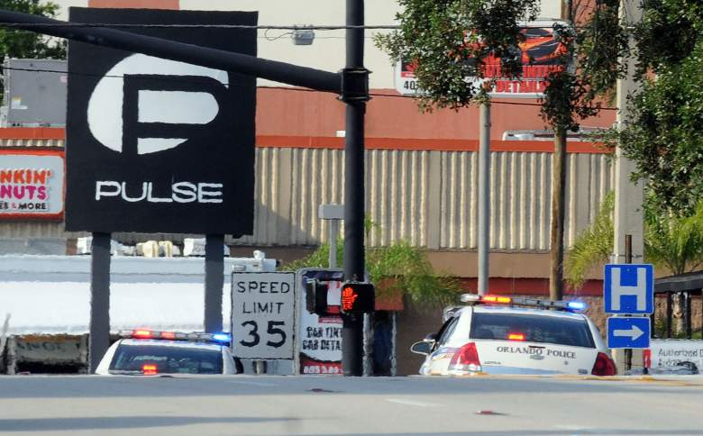 Orlando police officers seen outside of Pulse nightclub after a fatal shooting and hostage situation on June 12. (Getty)