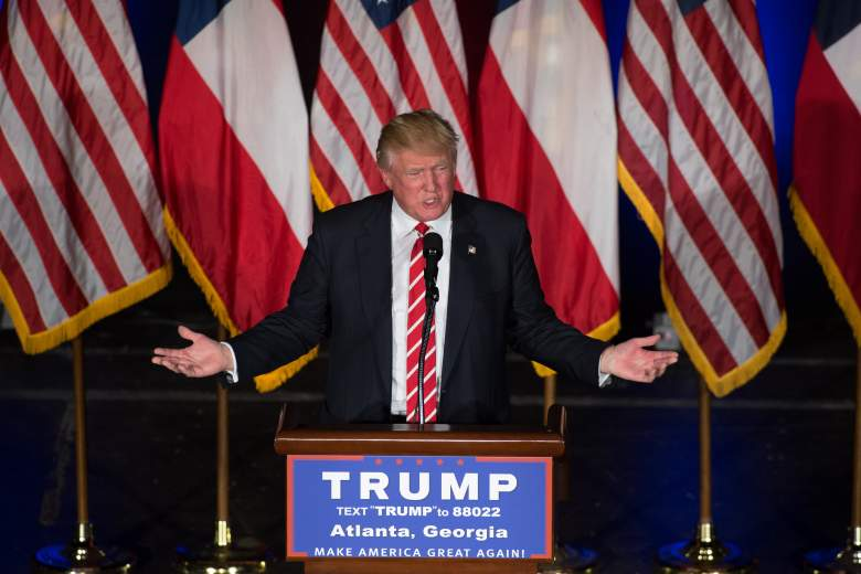 Donald Trump Atlanta, Donald Trump Orlando speech, Donald Trump orange, Donald Trump