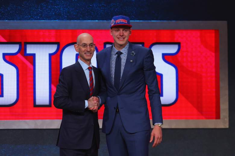 Adam Silver, Henry Ellenson 2016 NBA Draft