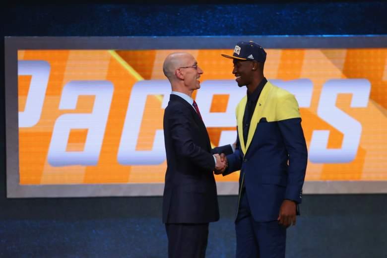 Adam Silver, Caris LeVert 2016 NBA Draft