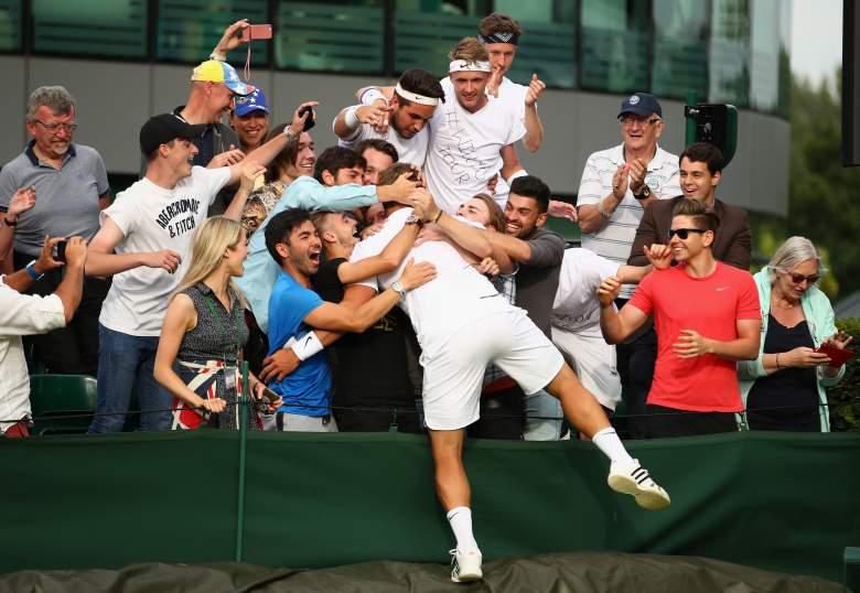 Marcus Willis, Wimbledon 2016, Roger Federer competitor, Tennis WAG
