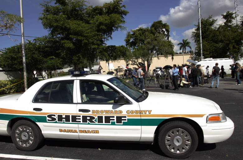 Television crews outside of the Broward County Medical Examiners Office. (Getty)