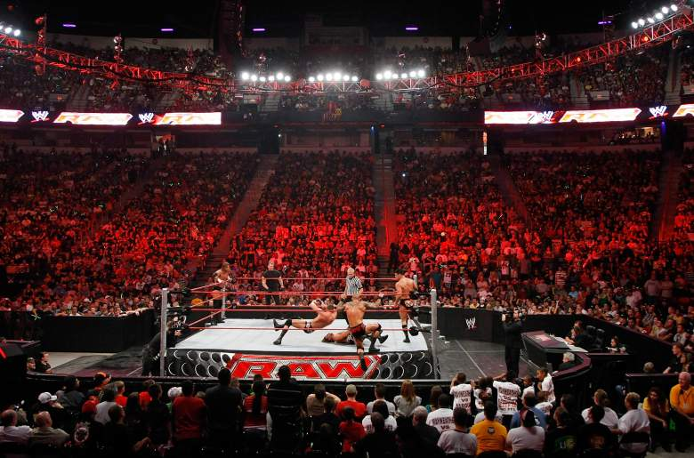 A Monday Night Raw show is broadcast from the Thomas & Mack Center in Las Vegas, Nevada. (Getty)