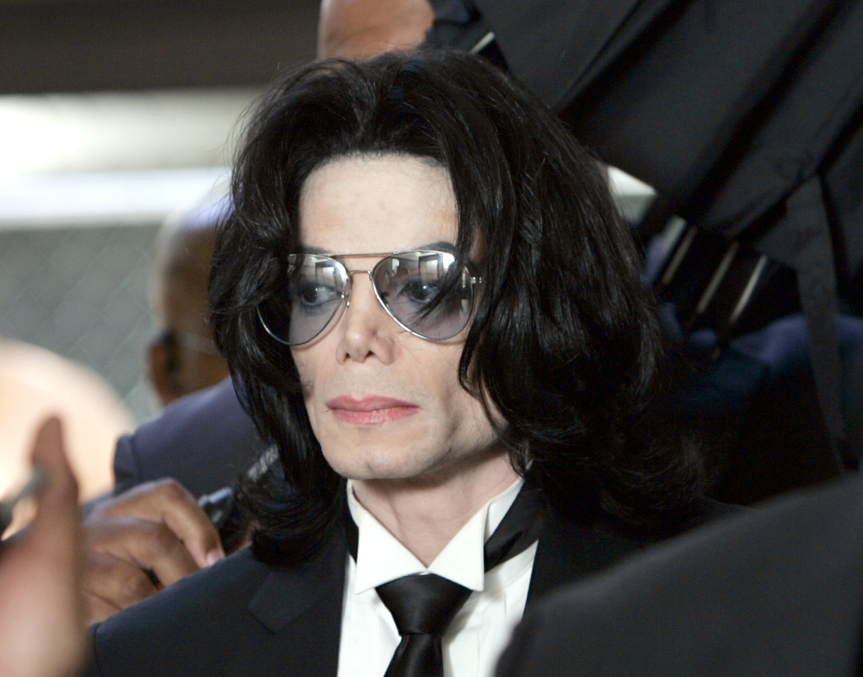 Michael Jackson outside Santa Barbara County Superior Court on June 13, 2005 in Santa Maria, California. (Getty)