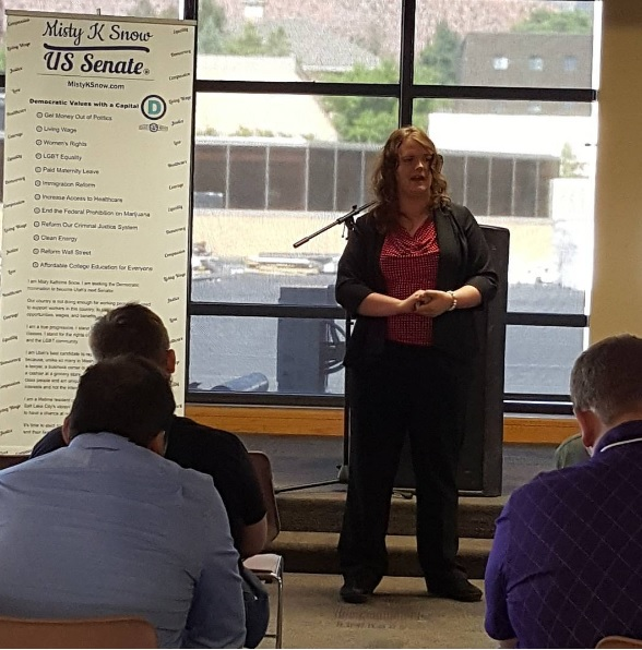 Misty K. Snow, transgender politician, Utah senate race