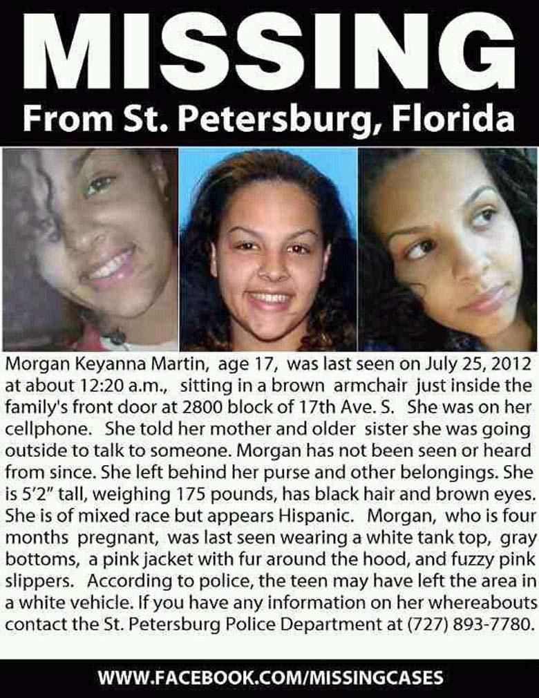 Morgan Martin Missing Poster